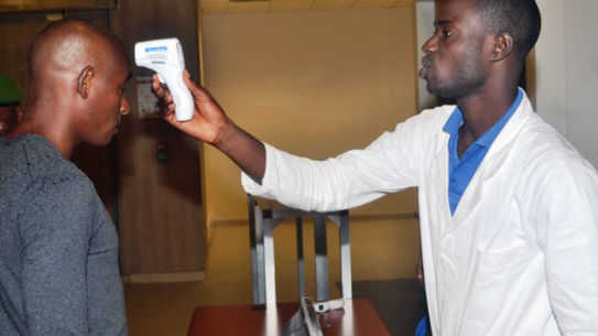 Ebola Africa airport test