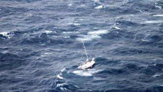 Hurricane Julio sailboat rescue