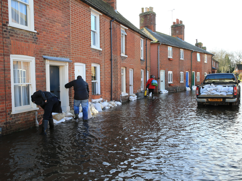 Flood preparation Sandbags