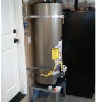 Flood preparation Water Heater Elevated