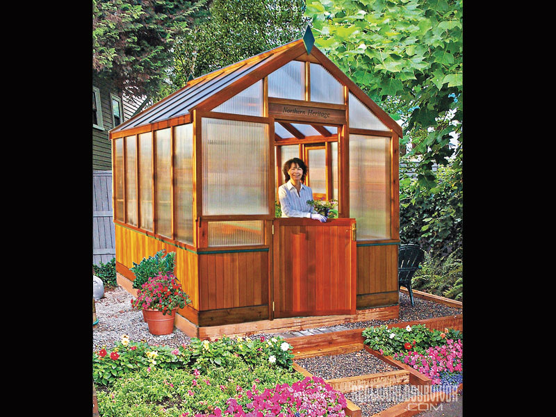 charly's backyard greenhouse