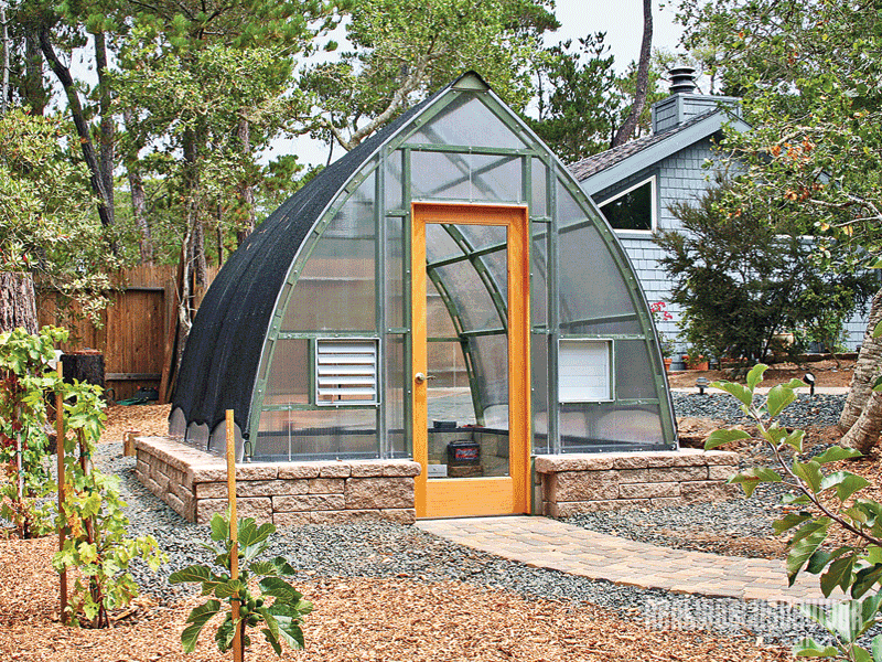 Gothic Arch backyard greenhouse