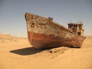 Aral Sea dissappearing