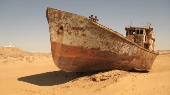Aral Sea dissappearing