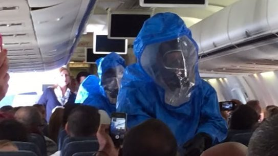 Ebola joke airplane