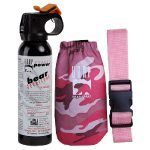 UDAP Bear Spray With Pink Camo Hip Holster/Belt