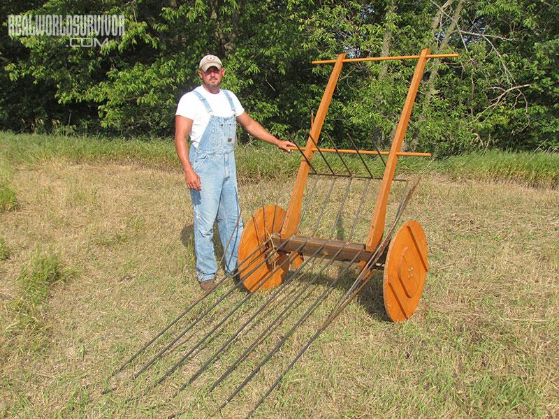 DIY hay rake/cart