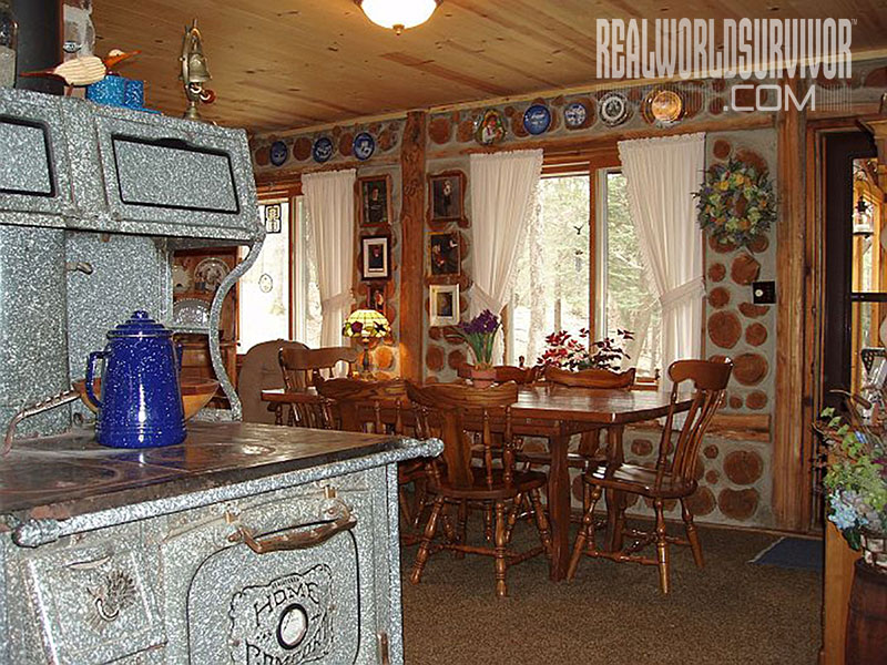 Cordwood Cottage Interior