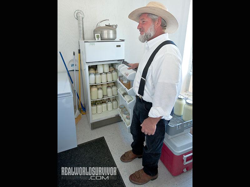 Storing cows milk