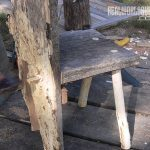 Slab-wood chair DIY