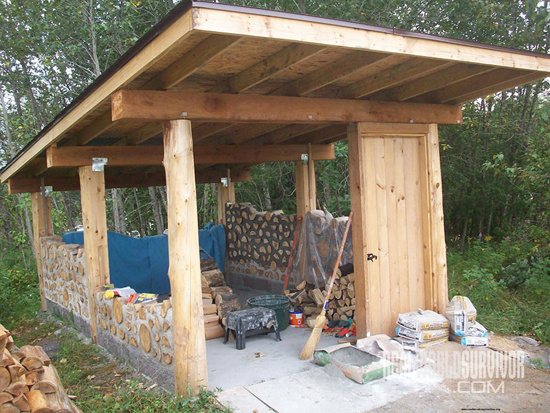 Small Cordwood Building