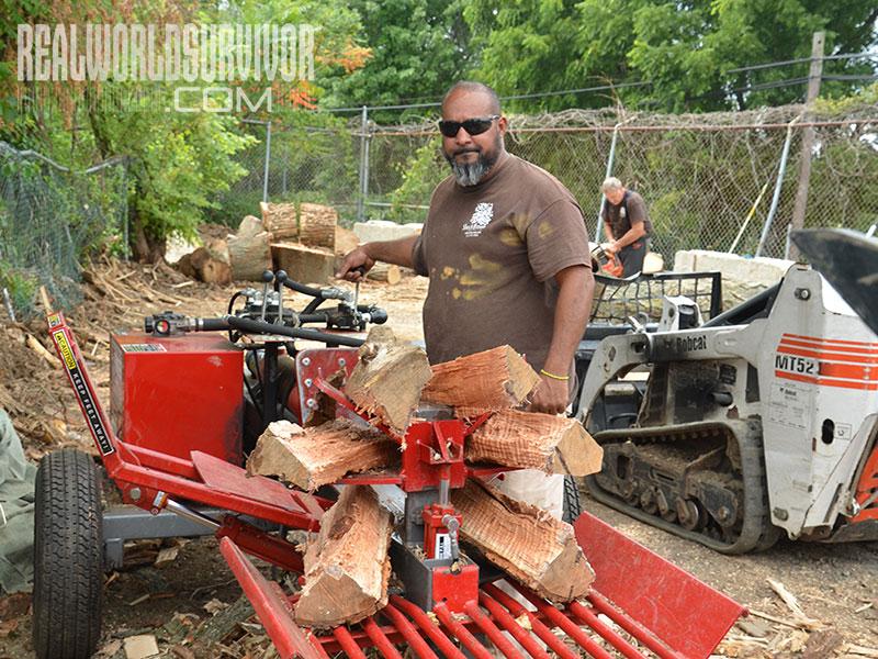 Firewood business log splitter