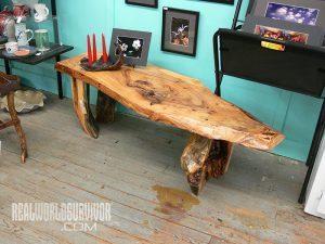 Rustic furniture from repurposed wood