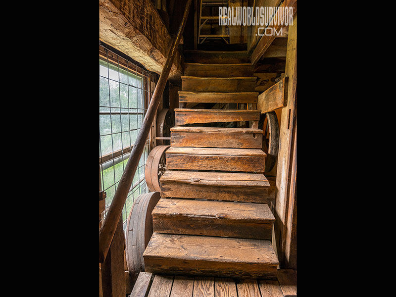 Butte Creek Mill stairs