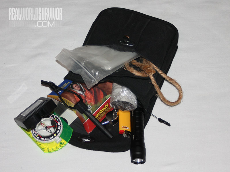 emergency survival belt pouch