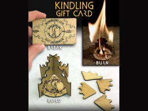 Wazoo fire starter gift card