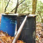 Off-Grid Gravity-fed Water System settling tanks