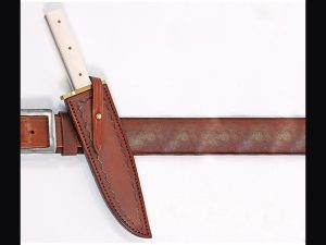 custom leather knife scabbard