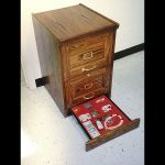 Hidden Safes Oak File Cabinet
