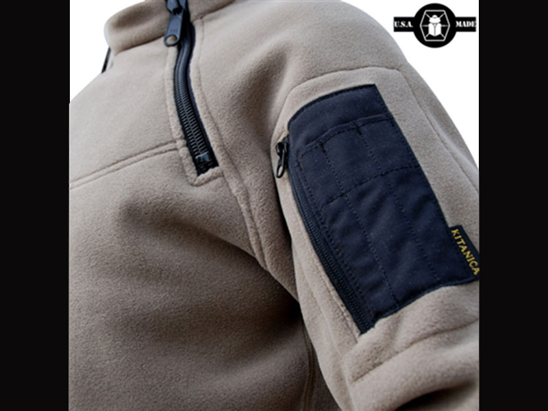 Kitanica 2-Zip Fleece tan side pocket