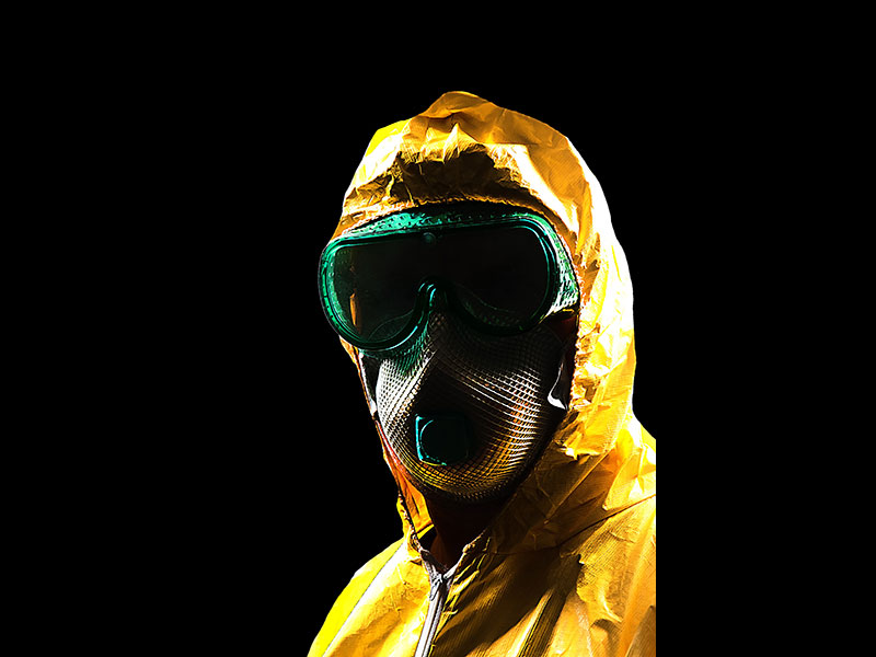 Tychem QC Biohazard Suit Infection Prevention