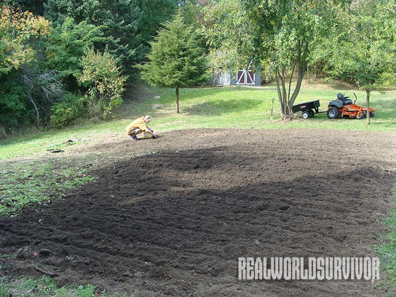 tilling a vegetable garden