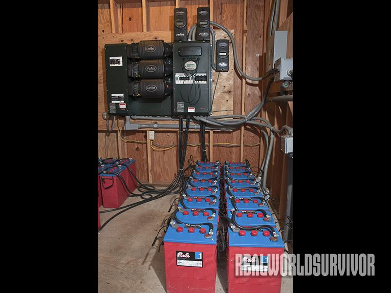 Rows Of Battery Storage