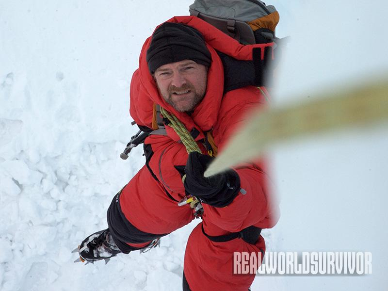 Les Stroud Survivorman contest ice climbing