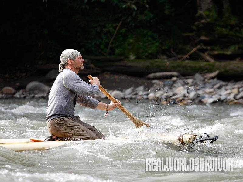 Les Stroud Survivorman contest river