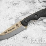 TOPS Mini Scandi Survival knife snow
