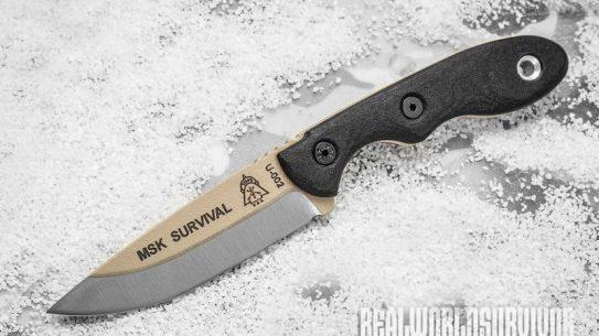 TOPS Mini Scandi Survival knife snow