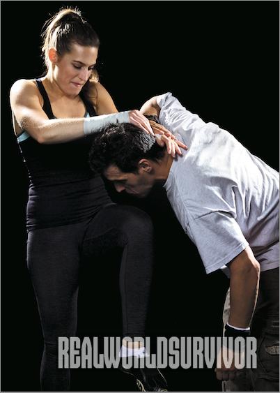 martial arts woman knee