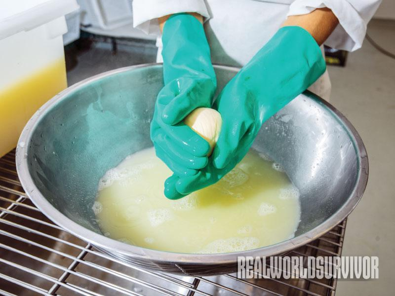 cheesemaking, stretching cheese
