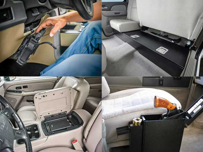 4 Gun Safes And Holster Mounts For Your Car