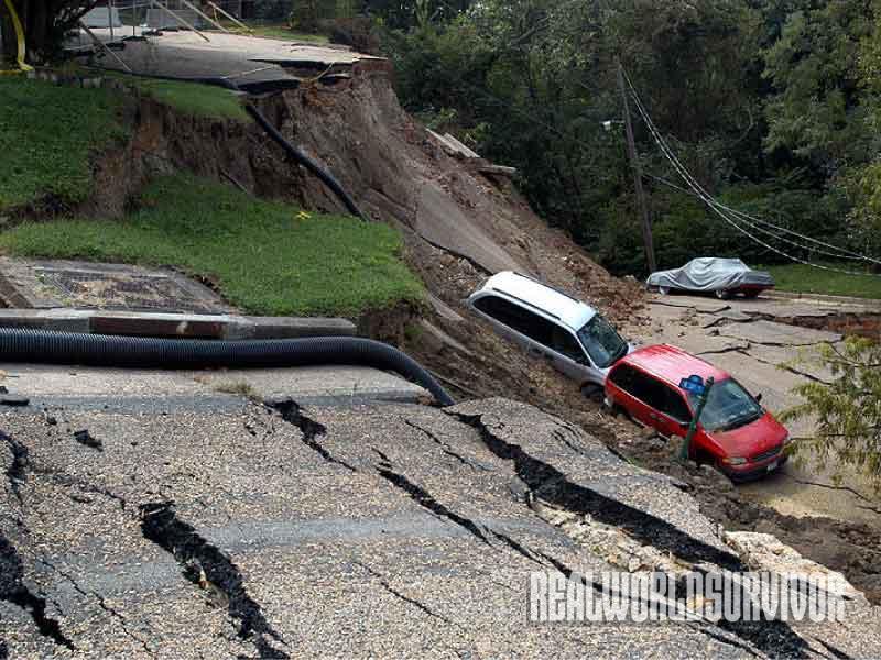 cars, landslide
