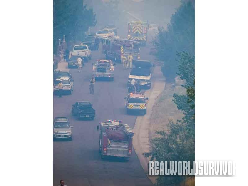 emergency route, wildfire