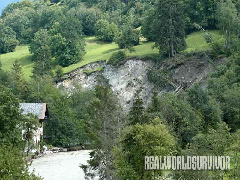 landslide, scenery