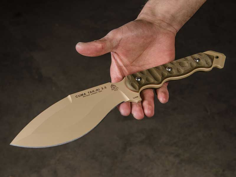 CUMA Tak-Ri 3.5, TOPS Knives, TOPS knife, TOPS, CUMA Tak-Ri hand