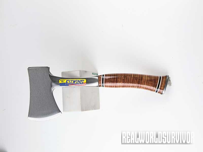 ax, axes, tomahawk, tomahawks, estwing leather sportsman axe