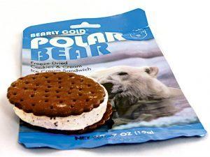disaster food, emergency meals, emergency meal, disaster meals, disaster foods, Polar Bear Freeze-Dried Cookies & Cream Ice Cream