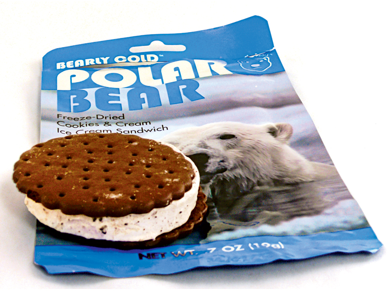 disaster food, emergency meals, emergency meal, disaster meals, disaster foods, Polar Bear Freeze-Dried Cookies & Cream Ice Cream