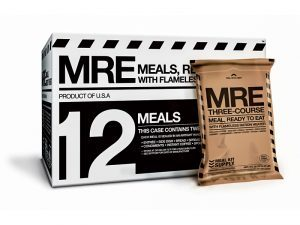 disaster food, emergency meals, emergency meal, disaster meals, disaster foods, Meal Kit Supply Three-Course MRE Case