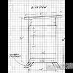 Side view blueprint of the buck tower.