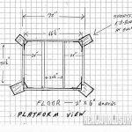 Platform view blueprint of the buck tower.