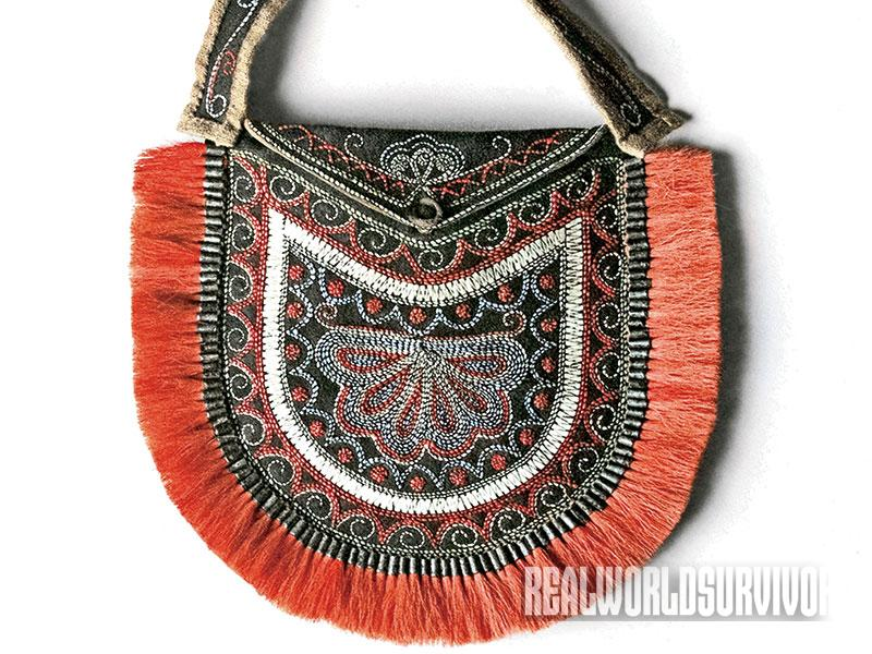 Shawn Webster's Huron-stye bag is a reproduction of a 1829 bag.