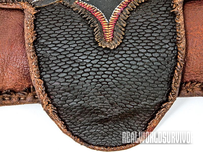 Shawn Webster used a beavertail for one of his hunting pouches.