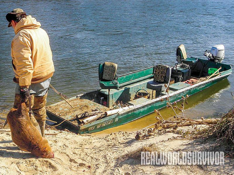 The author has used traps on the river for over 50 years.