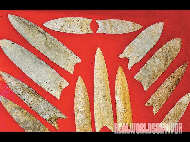 Native American stones, spear points and knives from 10,000 to 6,000 years ago were some of the surviving artifacts.