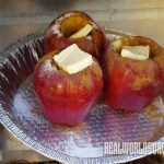Baked apples made in a reflector oven.