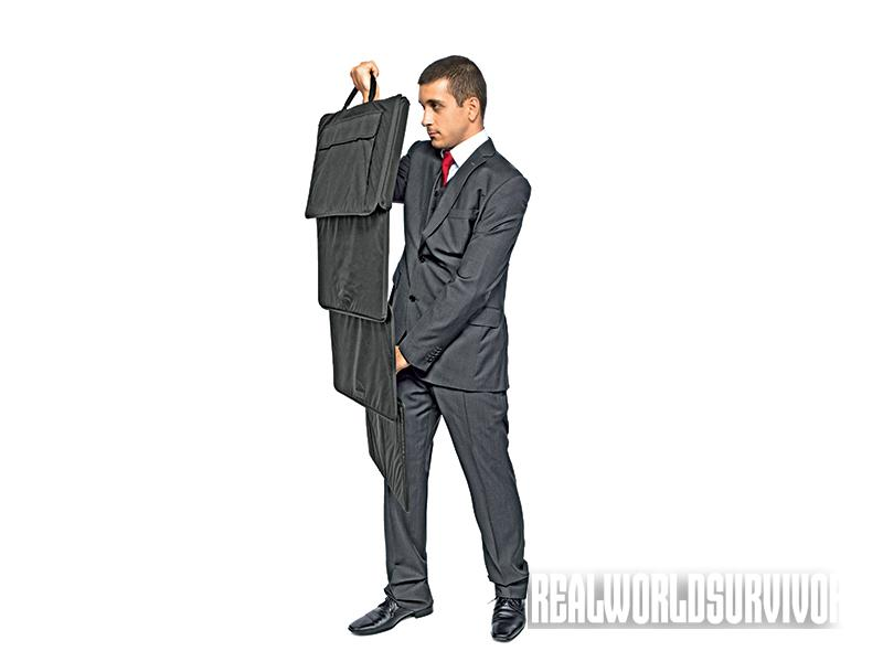 Use the Ballistic Briefcase to survive attacks in the workplace.